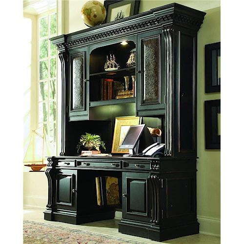 Hooker Furniture Telluride Computer Credenza & Hutch Office Unit