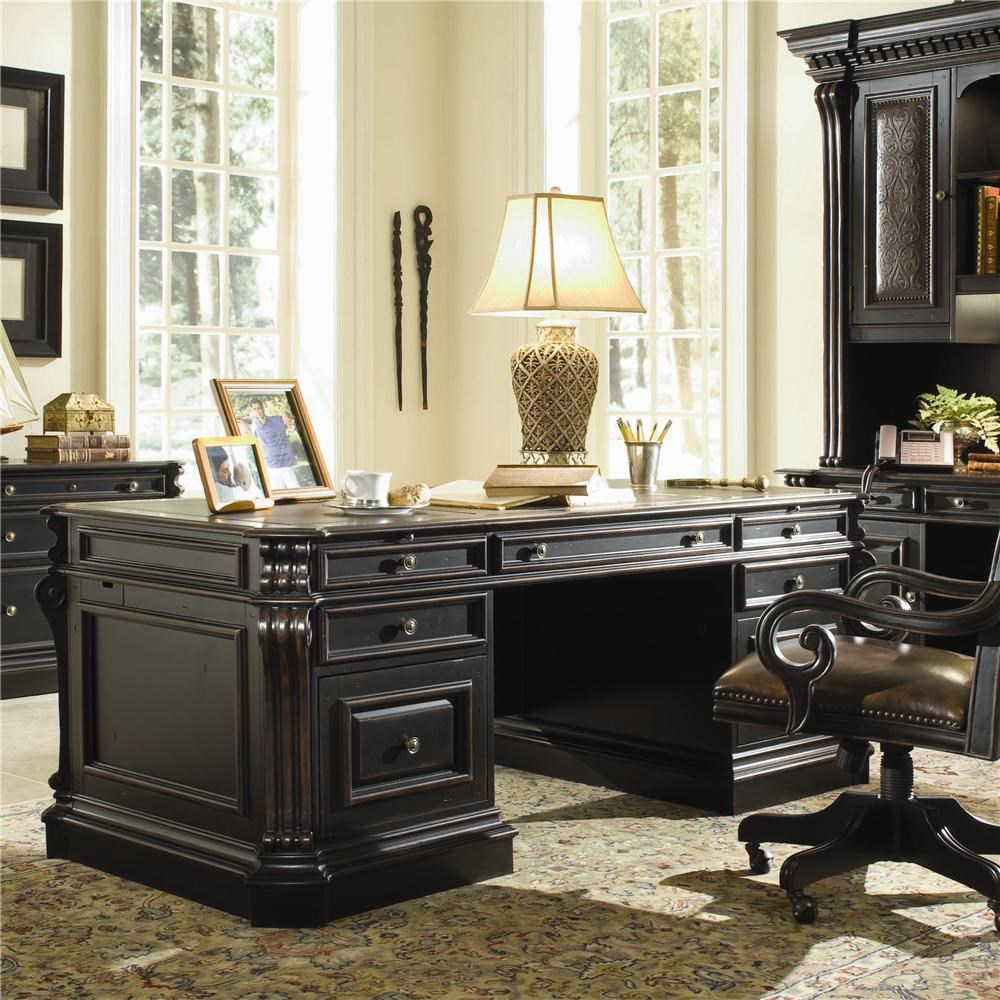 Hooker furniture telluride 370 10 563 executive double pedestal desk dunk bright furniture double pedestal desks
