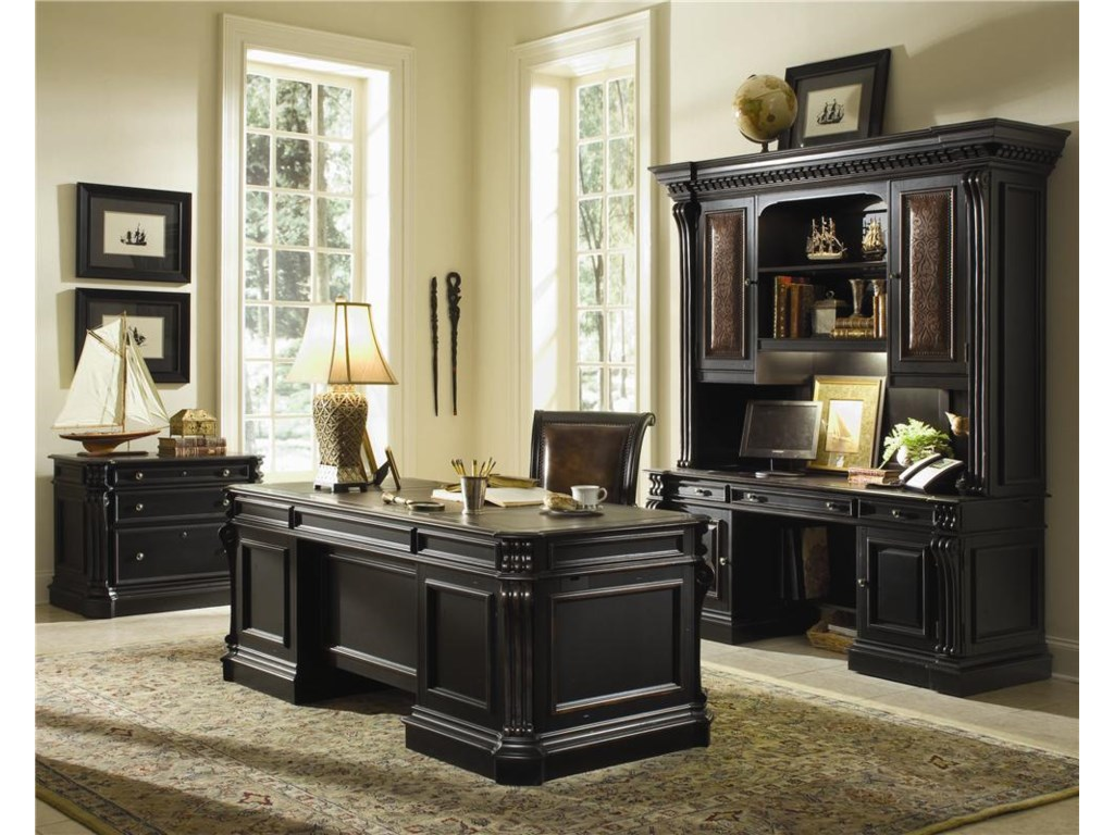 Shown with Lateral File & Desk & Hutch