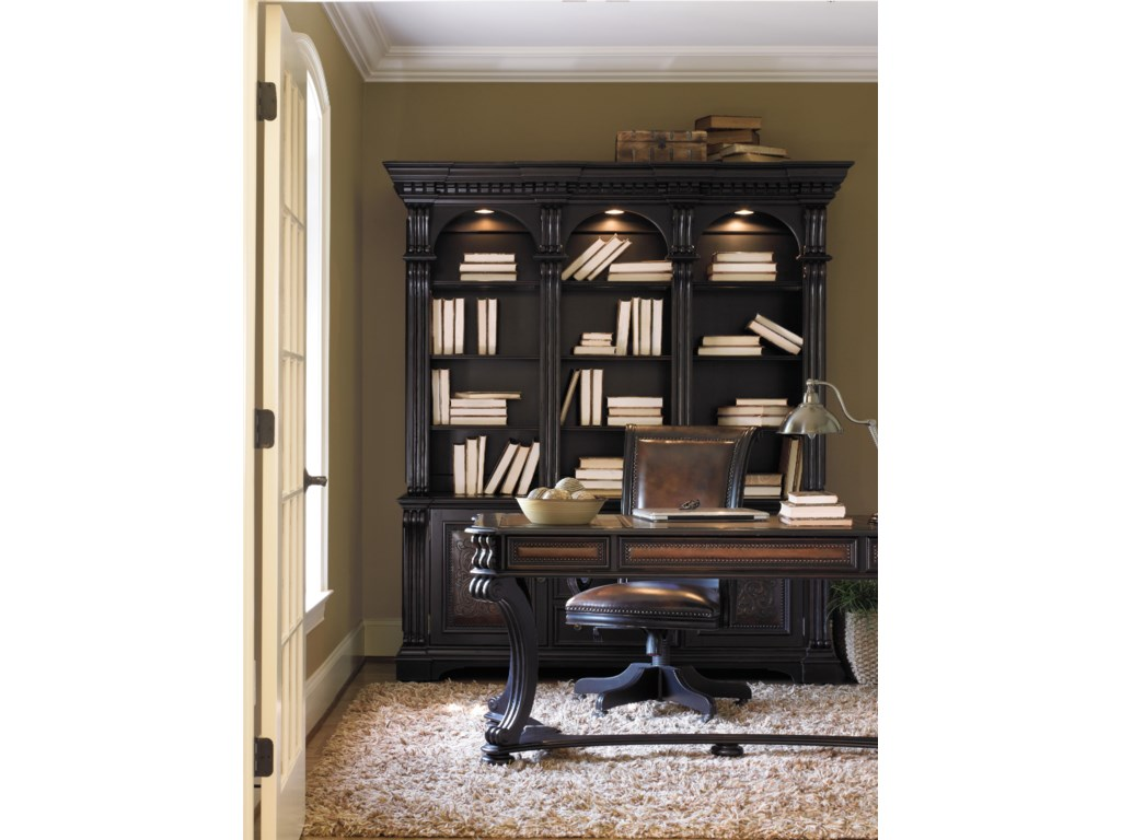 Shown with Writing Desk, Bookcase Base & Hutch