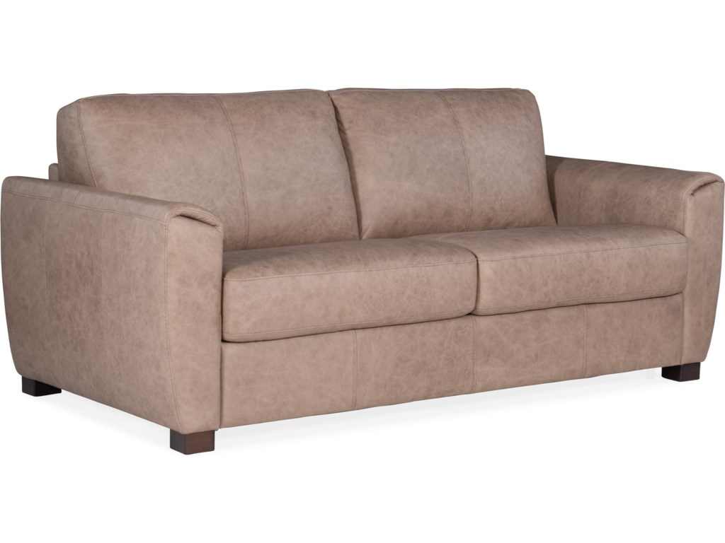 Torrington Casual Leather Loveseat Sleeper with Memory Foam Mattress by  Hooker Furniture at Wayside Furniture