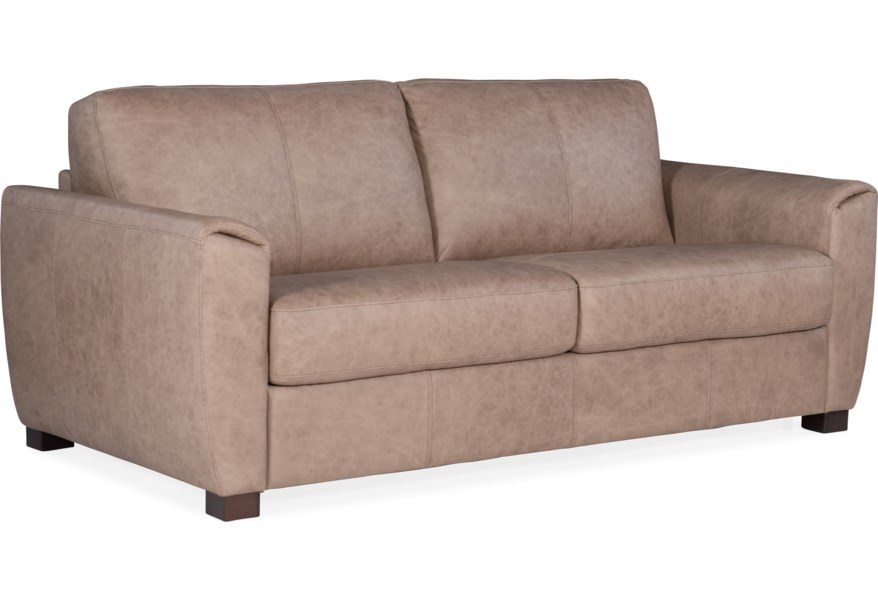 Torrington Casual Leather Loveseat Sleeper with Memory Foam Mattress by  Hooker Furniture at Fisher Home Furnishings