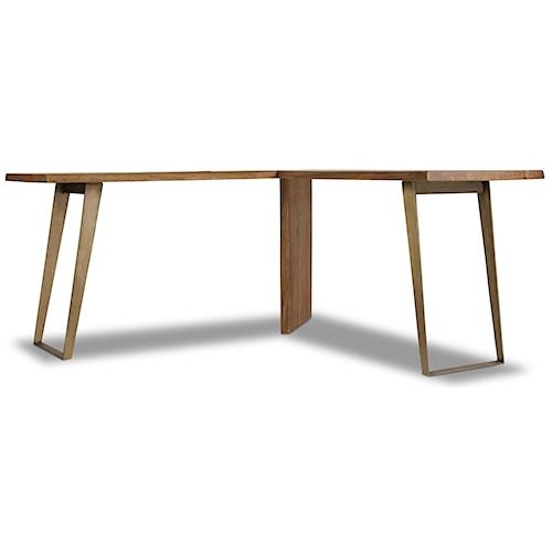 Hooker Furniture Transcend L Desk with Plated Metal Base