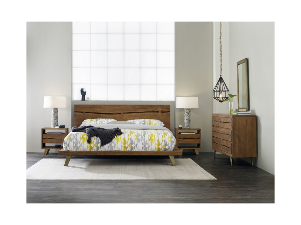 Hooker Furniture TranscendContemporary Dresser and Mirror