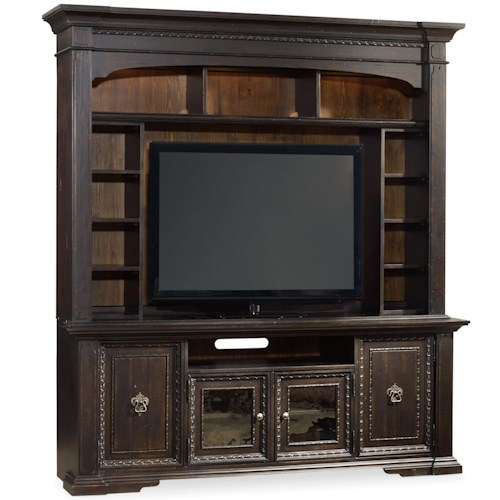 Hooker Furniture Treviso 2 Pc Entertainment Group with Lighted Hutch