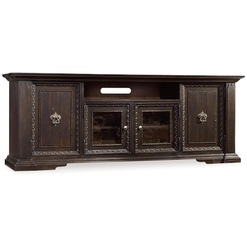Hooker Furniture Treviso Entertainment Console with Channel Speaker Area