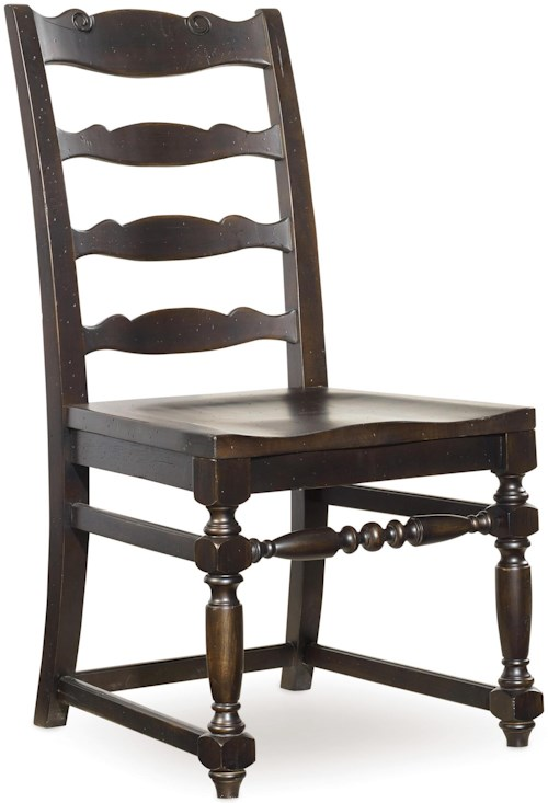 Hamilton home treviso ladderback side chair with turned for Furniture 0 percent financing
