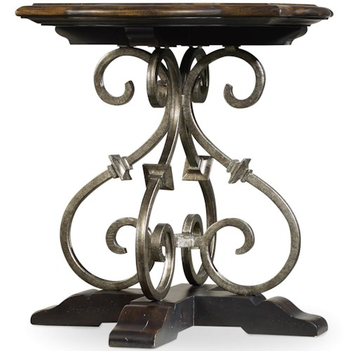 Hooker Furniture Treviso Lamp Table with Wrought Iron Accents