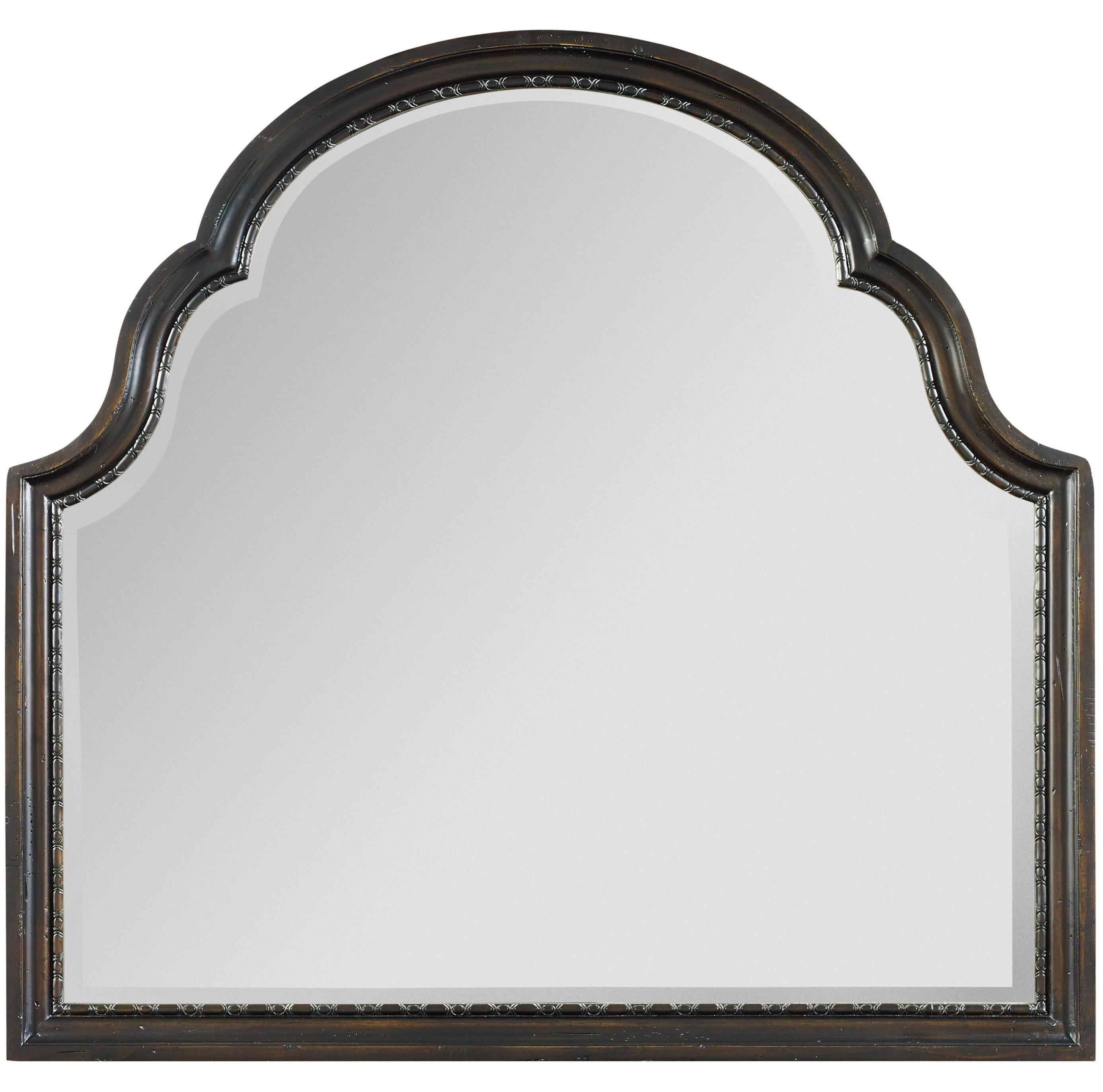 Hooker Furniture Treviso Shaped Landscape Mirror With Rounded Top