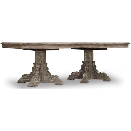 Hooker Furniture True Vintage Rectangle Dining Table With Leaves - Conference table with leaves