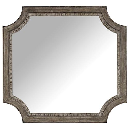 Hooker Furniture True Vintage Shaped Mirror with Wood Frame