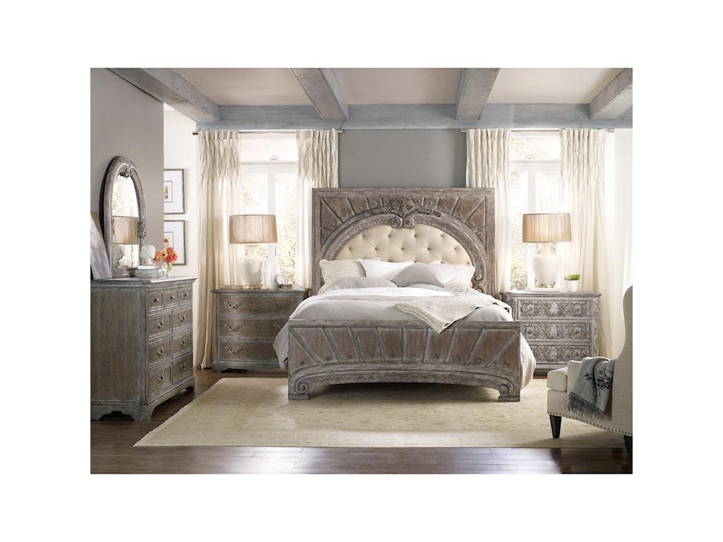 Hooker Furniture True VintageKing Upholstered Panel Bed