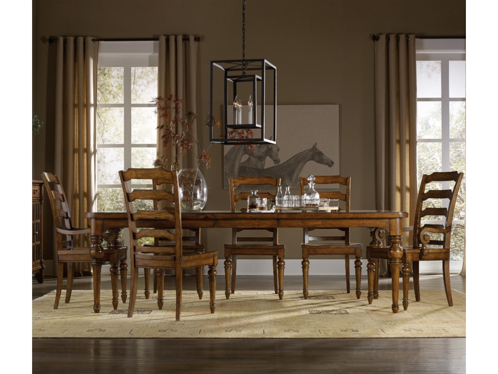 Hooker Furniture Tynecastle7 Piece Dining Set with Side Chairs