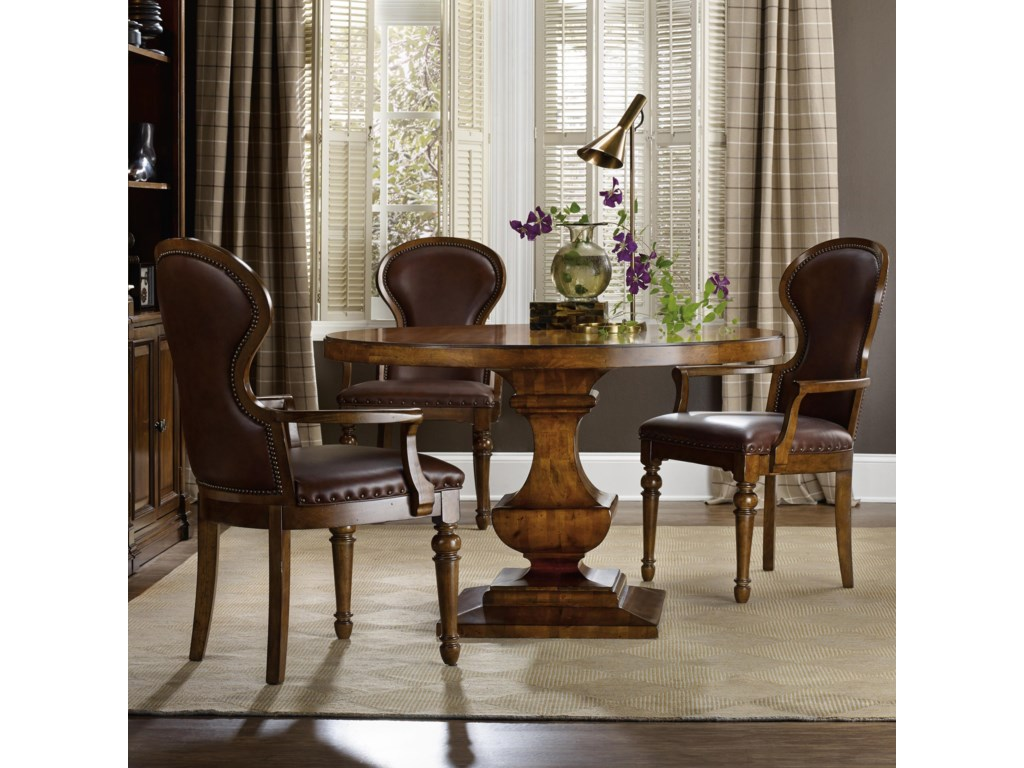 Tynecastle Traditional Table And Arm Chair Set By Hooker Furniture