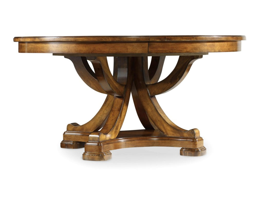 Hooker Furniture Tynecastle Traditional 60 Inch Round Pedestal Dining Table Wayside Furniture Dining Tables