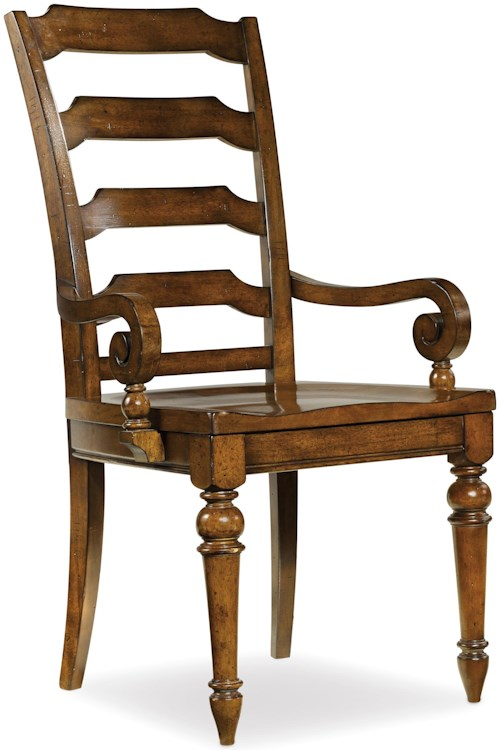 Hooker Furniture Tynecastle Traditional Ladderback Dining Arm Chair