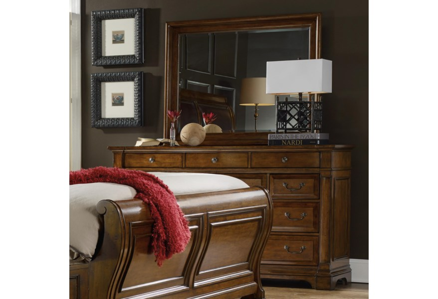 Hooker Furniture Tynecastle Traditional Dresser and Mirror ...