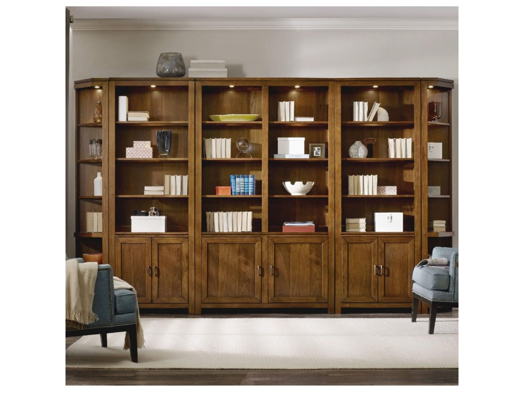 Hooker Furniture Viewpoint  Bookcase Wall Unit