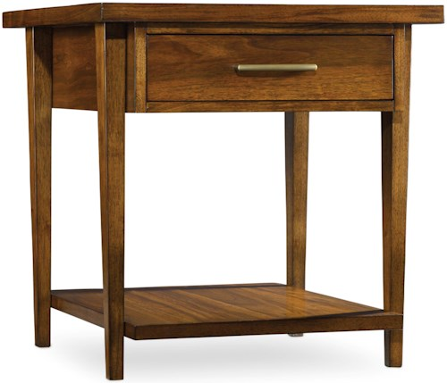Hooker Furniture Viewpoint   End Table with Drawer