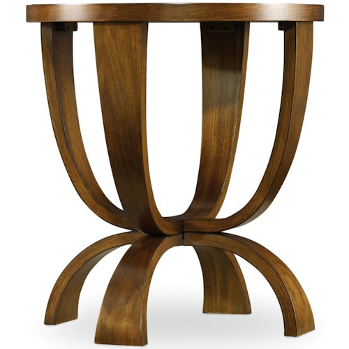 Hooker Furniture Viewpoint   Round End Table with Pedestal Base