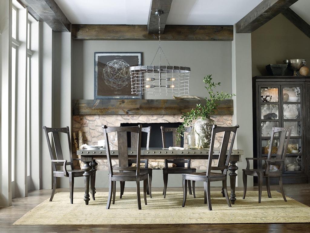 Hooker Furniture Vintage WestFormal Dining Room Group