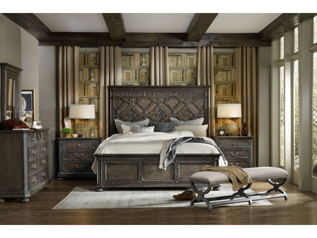 Hooker Furniture Vintage West King Bedroom Group Belfort Furniture