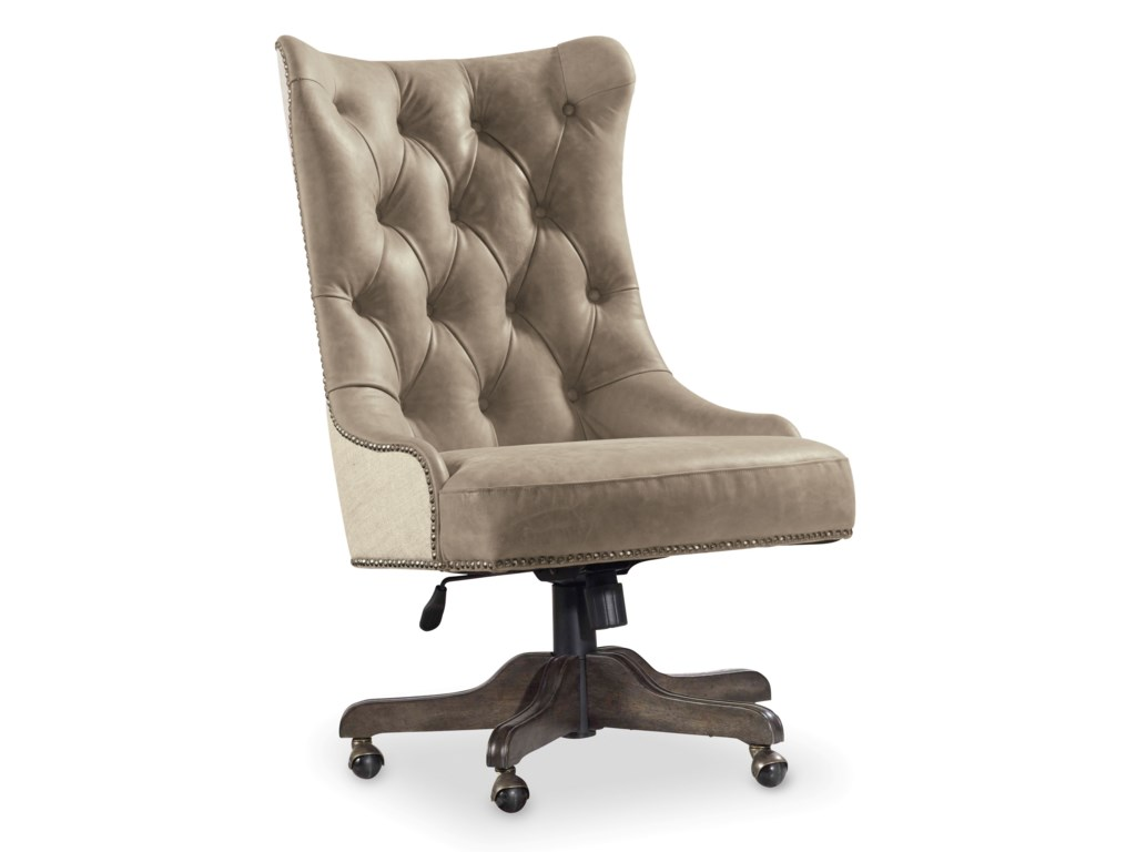 Hooker furniture vintage west 5700 30220 executive desk chair with tufted back dunk bright furniture executive desk chairs
