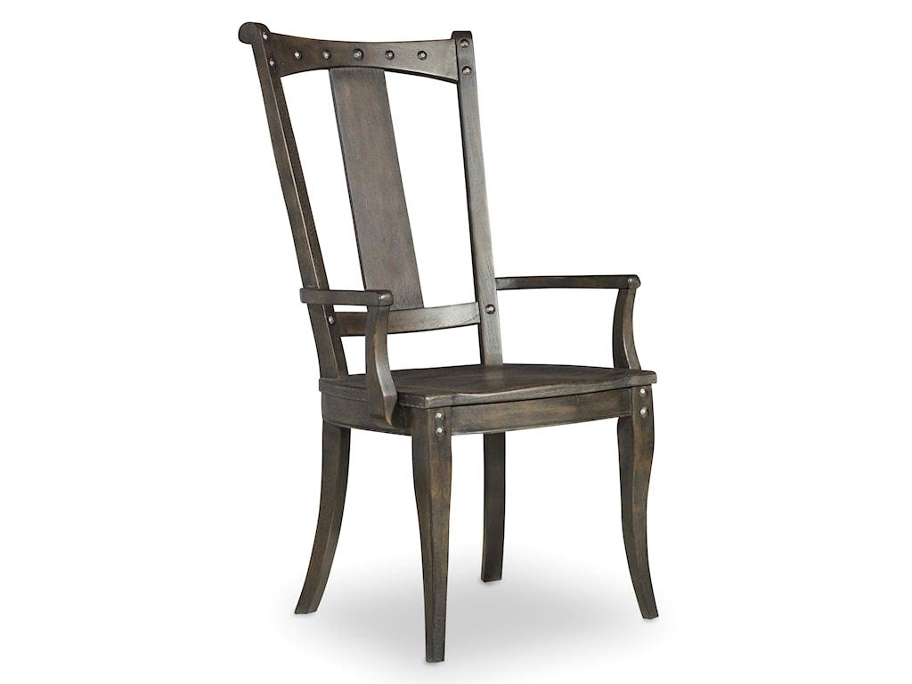 Hooker Furniture Vintage WestSplatback Arm Chair