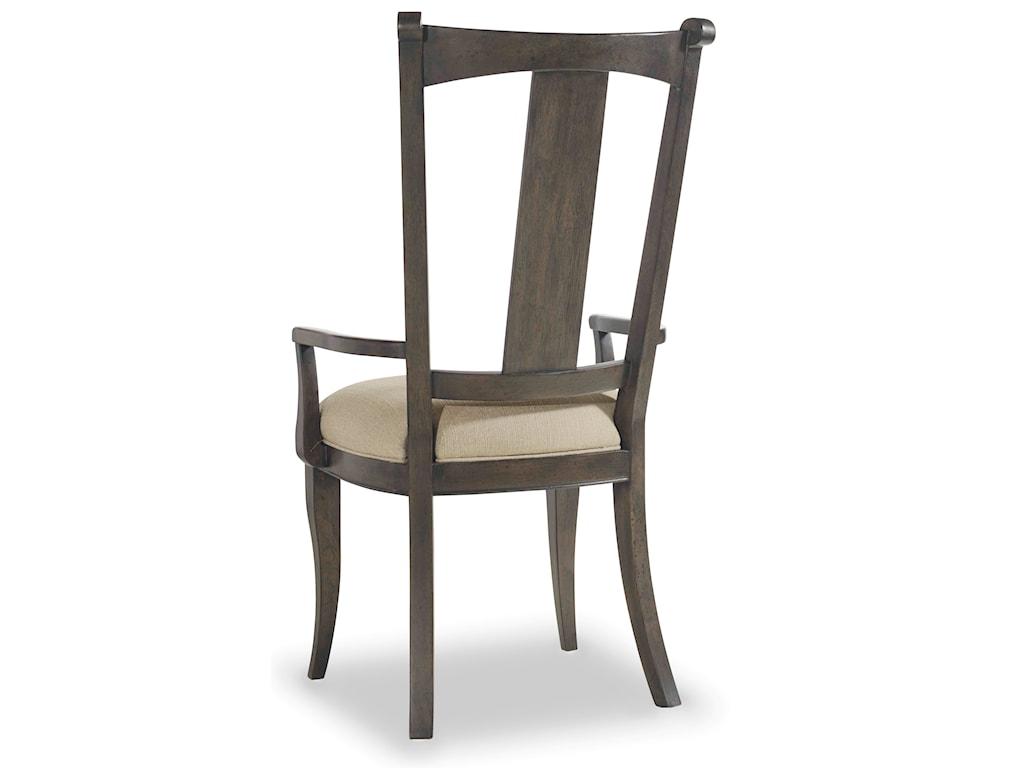 Hooker Furniture Vintage WestUpholstered Splatback Arm Chair