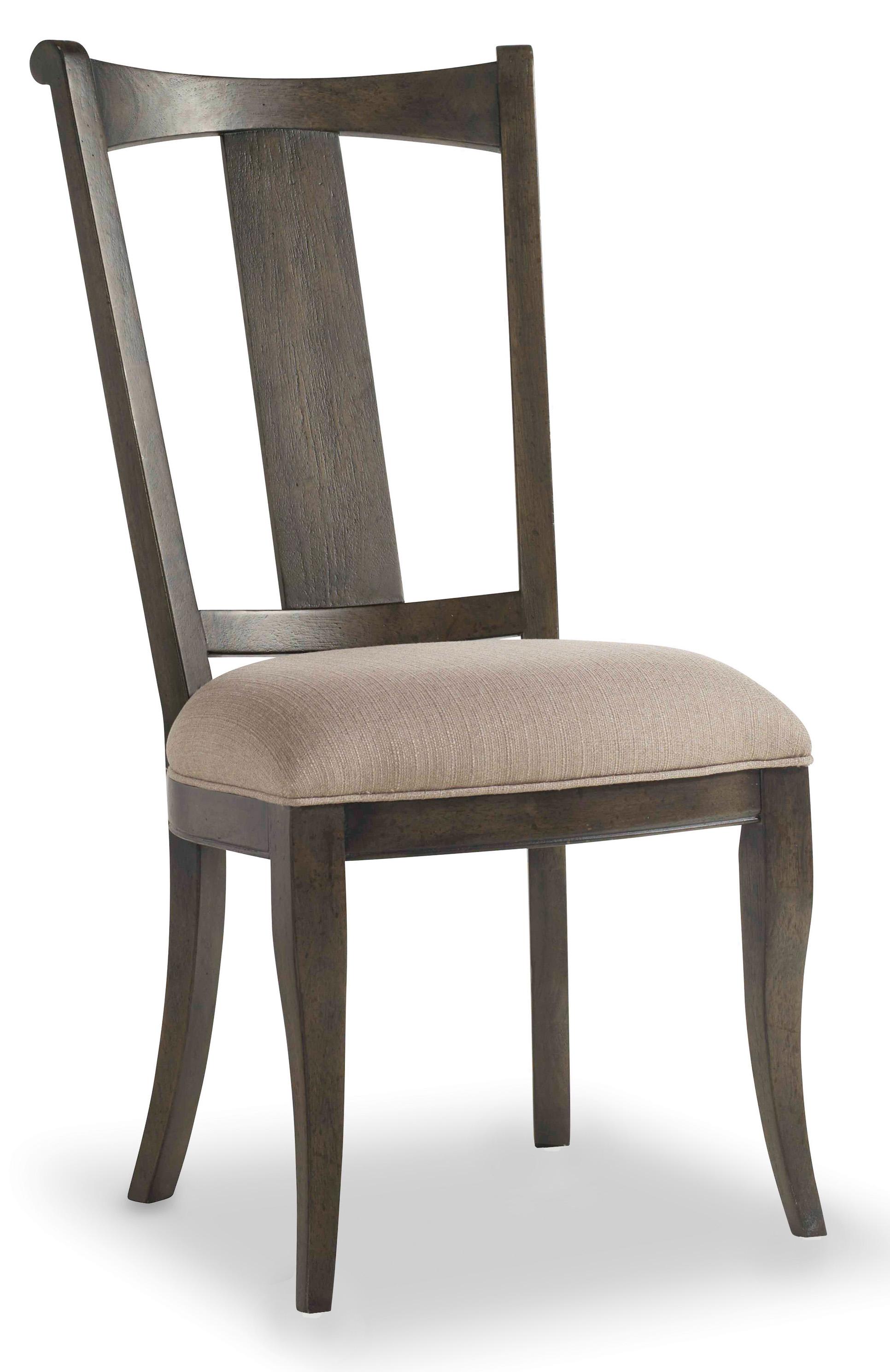 Hooker Furniture Vintage West Upholstered Splatback Side Chair With Splayed  Legs