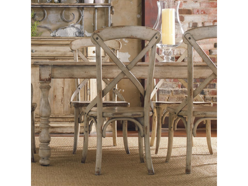 Furniture Wakefield Rectangular Leg Dining Table With Two Tone Distressed Finish