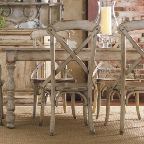 Hooker Furniture Wakefield Rectangular Leg Dining Table with Two ...