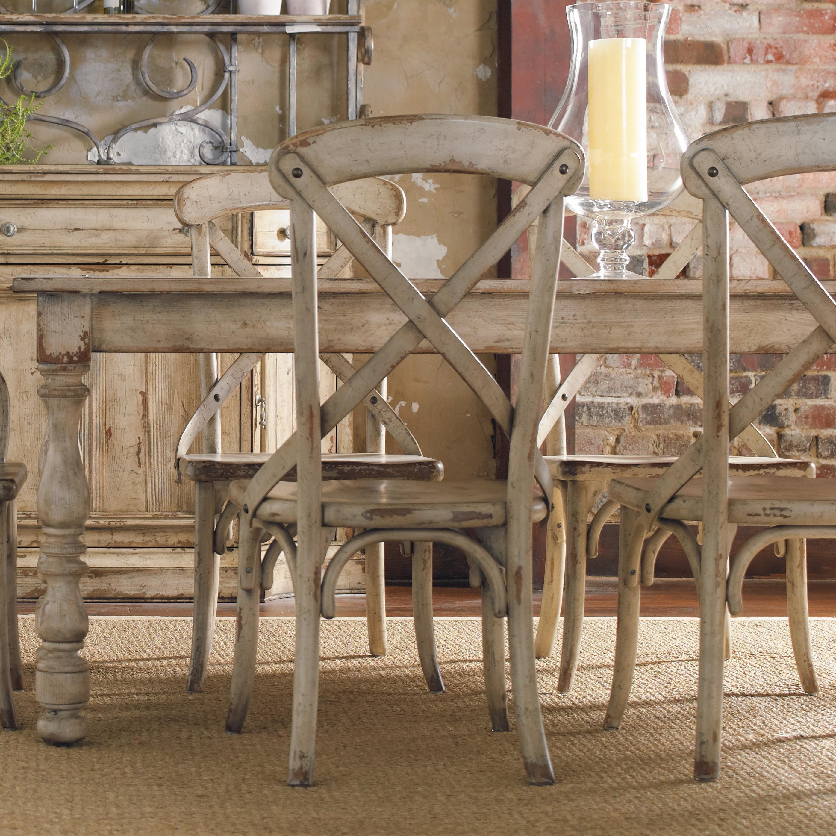 Hooker Furniture Wakefield Rectangular Leg Dining Table With Two Tone  Distressed Finish