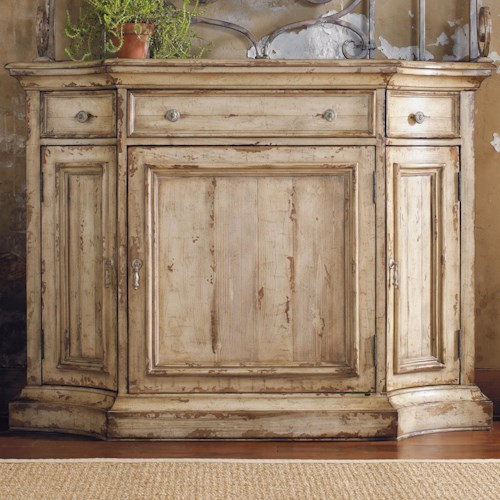 Furniture Wakefield Three Door Drawer Distressed Two Tone Buffet