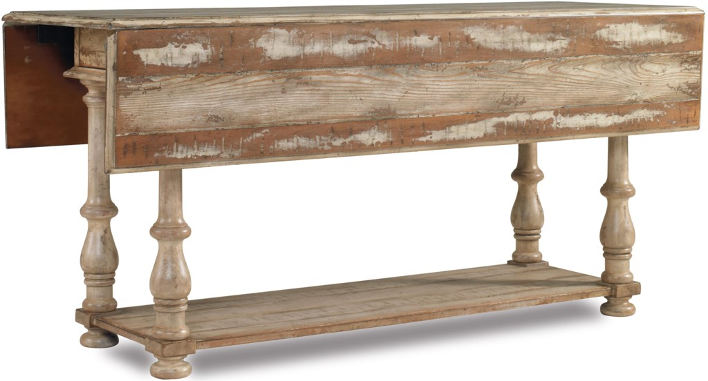 Hooker Furniture Wakefield Drop Leaf Console Table With Two Drawers
