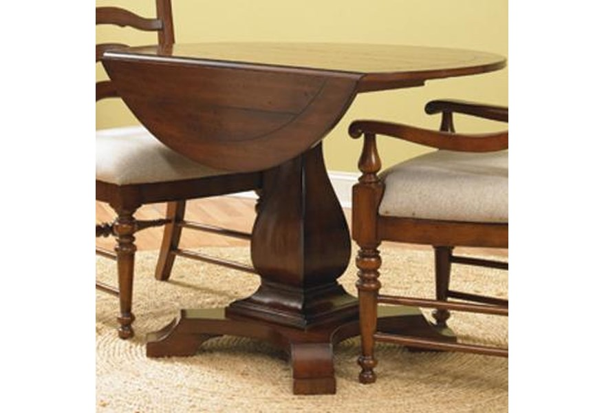 Waverly Place Round Drop Leave Casual Dining Table | Sprintz ...