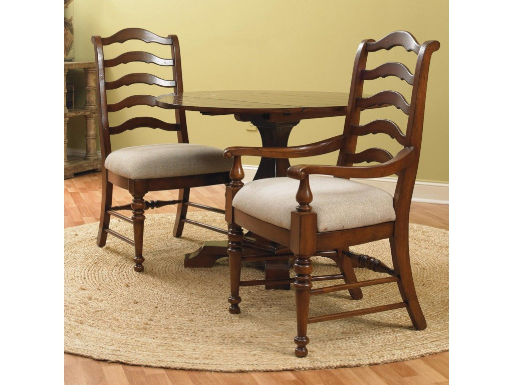 Shown with Ladderback Arm and Side Chairs