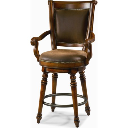 26-Inch Swivel Counter Height Stool