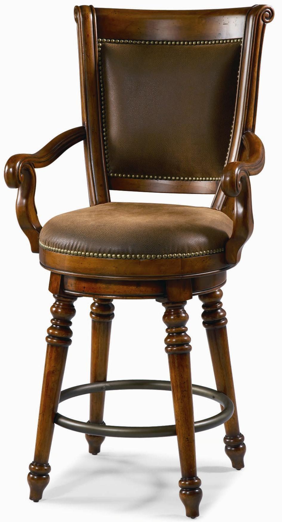 Hooker Furniture Waverly Place 26-Inch Swivel Counter Height Stool - Belfort Furniture - Bar Stool