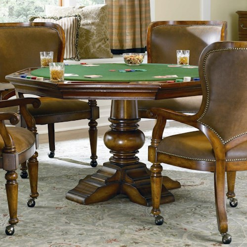 Hooker furniture waverly place reversible poker table for Dining room game table