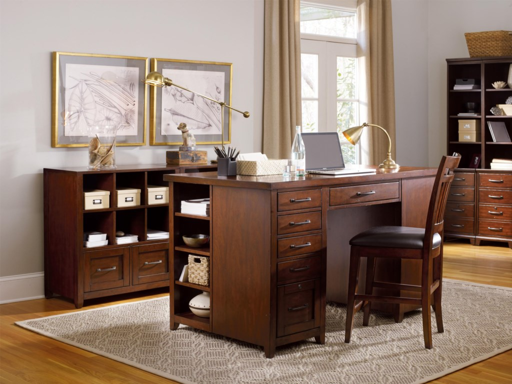 Shown with Utility Desk, Drawer Unit, Open Pier Hutch and Counter Height Chair
