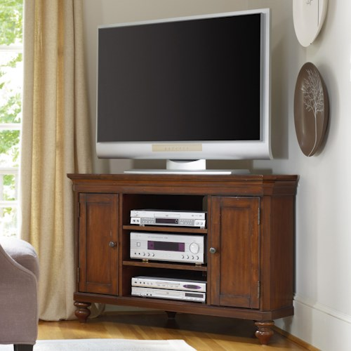 Hooker Furniture Wendover 48-Inch Corner Entertainment Console with 2 Doors