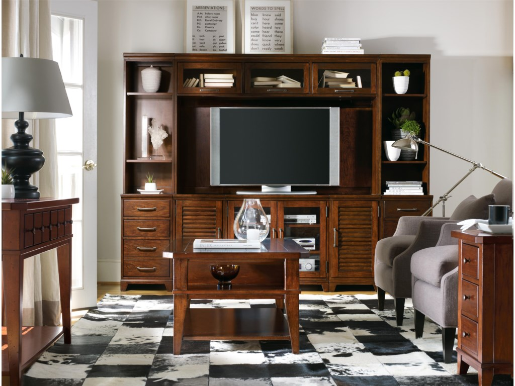 Shown with Eight-Piece Entertainment Wall, Cocktail Table and Sofa Table