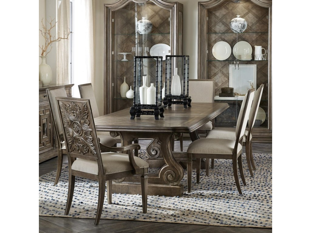 Hooker Furniture Woodlands7-Piece Table and Chair Set
