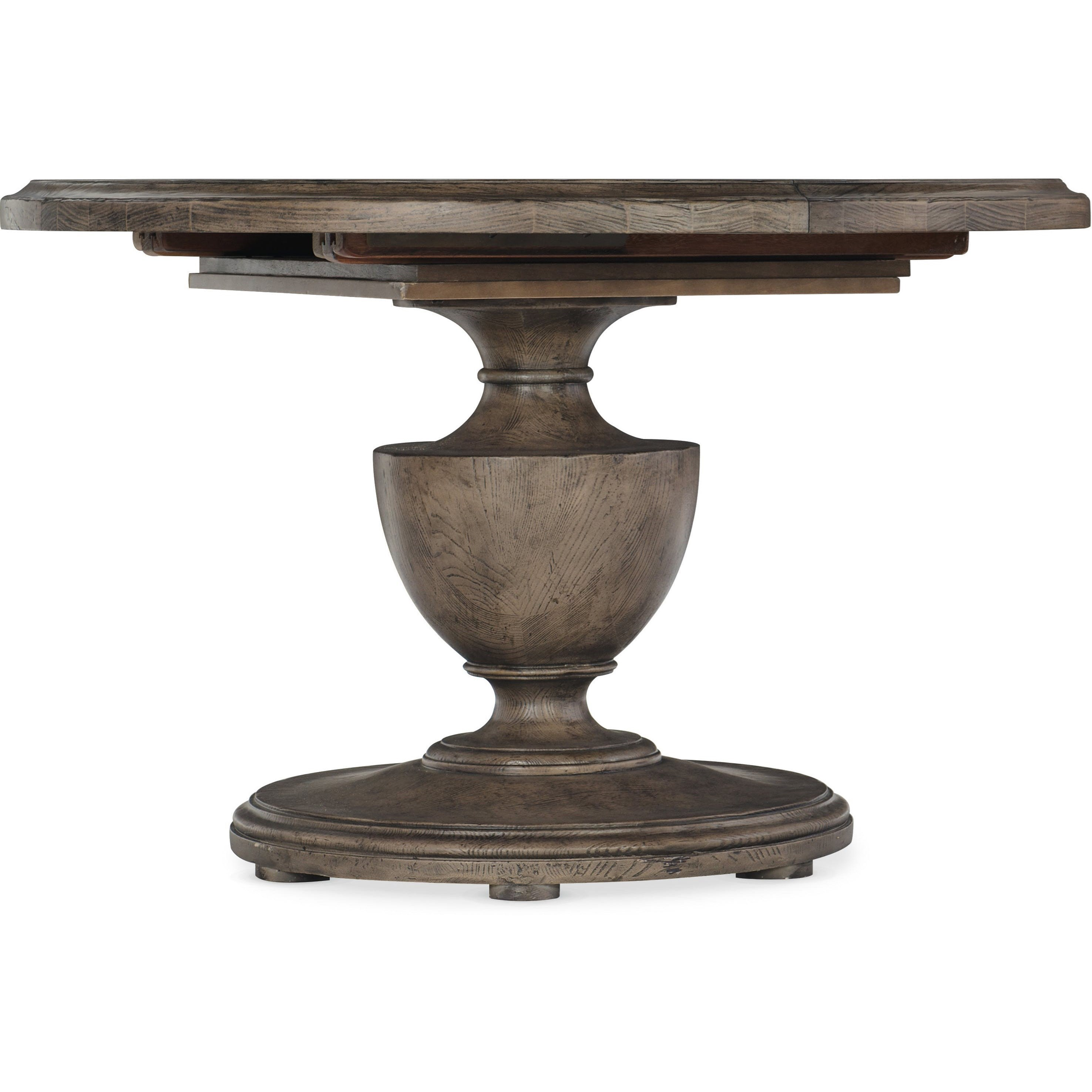 Traditional 48in Round Dining Table with  2 12in Leaves