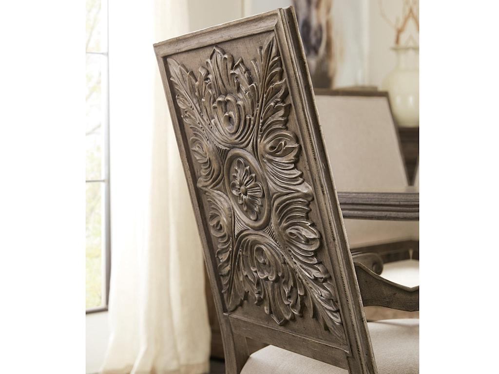 Hooker Furniture WoodlandsCarved Back Arm Chair