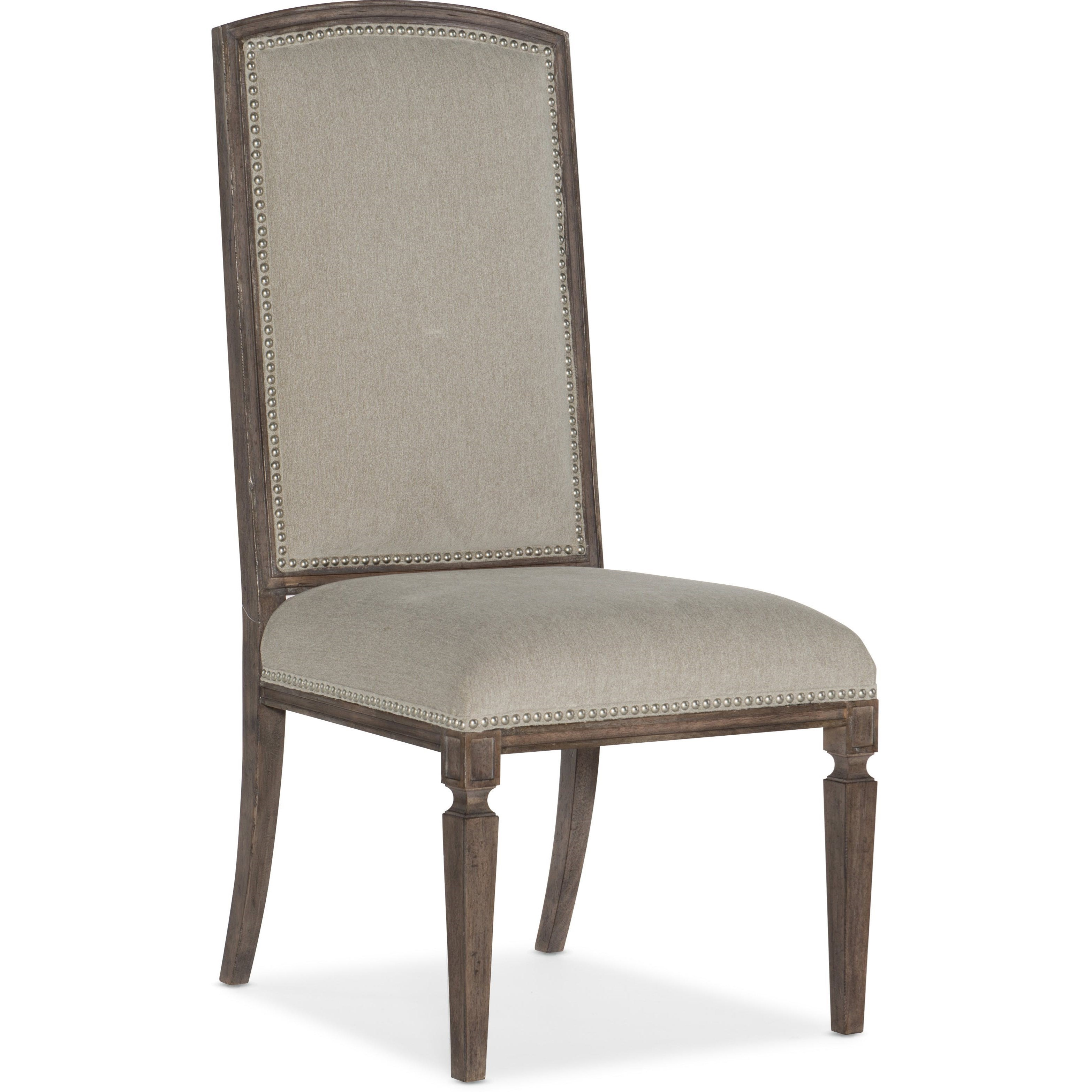 Transitional Arched Upholstered Side Chair