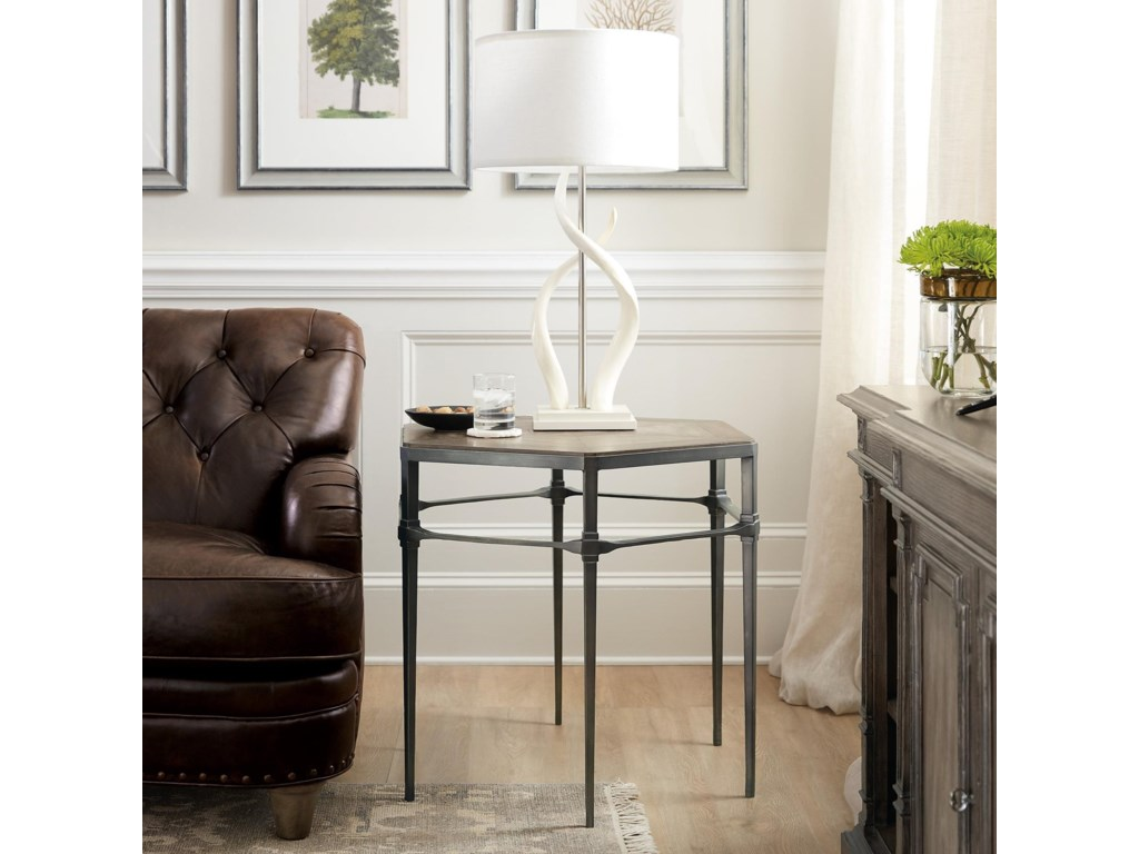 Hooker Furniture WoodlandsLamp Table w/ Metal