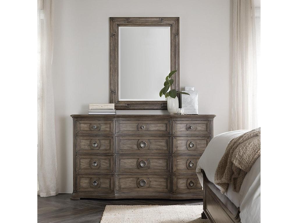 Hooker Furniture WoodlandsDresser and Mirror Set