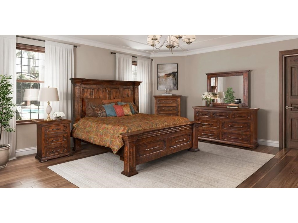 Horizon Home HamiltonQueen Panel Bed with Storage Package